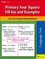 Primary Four Square Fill-Ins and Examples
