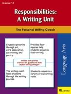 Responsibilities: A Writing Unit