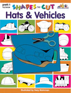 Shapes to Cut: Hats & Vehicles (Enhanced eBook)