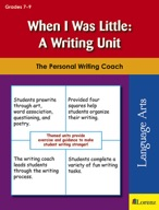 When I Was Little: A Writing Unit