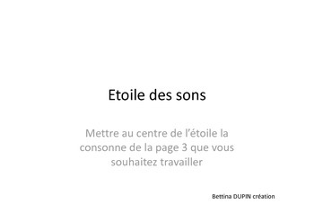 ETOILE DES SONS
