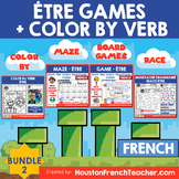ETRE French Verb Game -grammar/conjugation game + COLOR BY