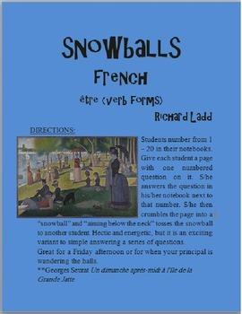 ETRE Snowballs FRENCH