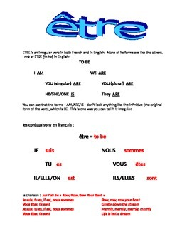 ETRE : introductory handout