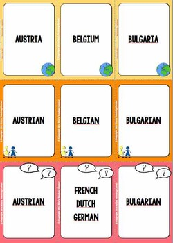 EU member countries - card game