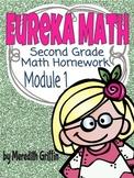 EUREKA MATH NY Homework Module 1  OA.1 OA.2 NBT.5 2nd Grad