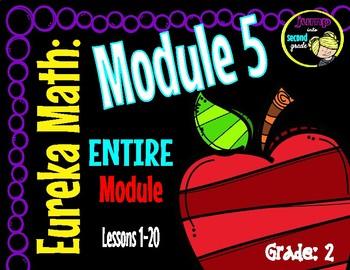 EUREKA Math ENGAGE 2nd Grade Slideshows Module 5 Lessons 1-20   EDITABLE