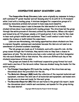 EUREKA You Found It The Care and Feeding of Cooperative Group Discovery Labs
