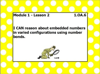 EUREKA math module 1 lesson 2 first grade