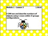 EUREKA math module 1 lesson 3 first grade