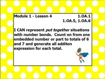 EUREKA math module 1 lesson 4 first grade