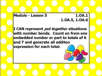 EUREKA math module 1 lesson 5 first grade