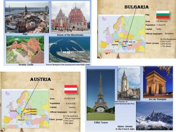 Europe Countries Italy France Germany Greece Austria Cyprus distance learning