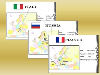 Europe - Countries - Maps - Cards - Italy - France - Germany - Greece - Russia