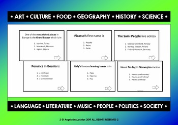 EUROPE GENERAL KNOWLEDGE QUIZ - 100 MULTIPLE-CHOICE QUESTIONS
