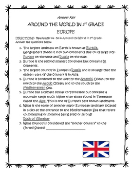 EUROPE Guided Reading - TN Around the World In 3rd Grade