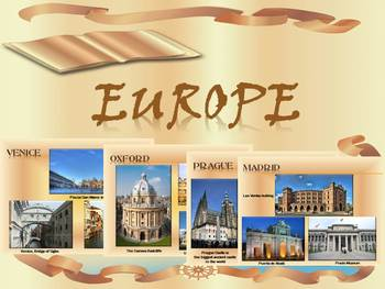 Europe Cities in Europe Countries Maps Spain Italy Russia distance learning