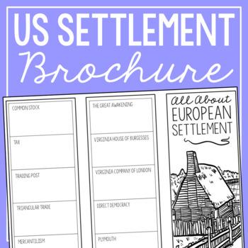 european settlement research brochure template american history project - Settlement Brochure Template