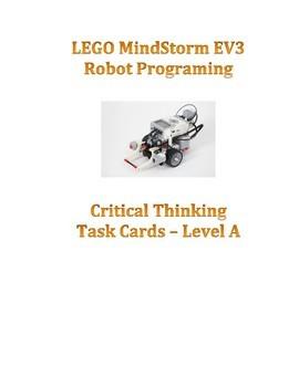 EV3  Critical Thinking Robot Task Cards Set A & Teacher Resource Bundle