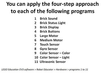 EV3 LEGO Robot Systems -- Programming
