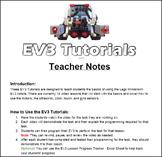 EV3 Lego Mindstorm - Video Lesson Tutorials