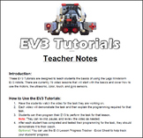 EV3 Lego Mindstorm - Video Lesson Tutorials