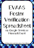 EVAAS Roster Verification Spreadsheet--Google Sheets
