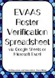 EVAAS Roster Verification Spreadsheet--Google Sheets