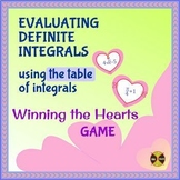 EVALUATING DEFINITE INTEGRALS using the table of integrals-WIN THE HEARTS Game 1