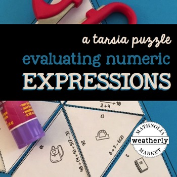 EVALUATING EXPRESSIONS numeric - order of operations - a TARSIA jigsaw puzzle