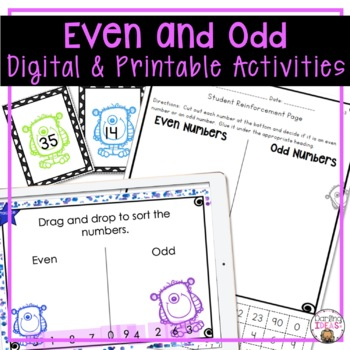 EVEN AND ODD NUMBERS 1 WEEK COMPLETE UNIT FOR 2ND GRADE CCSS