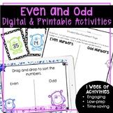 Odd and Even Numbers Worksheets | Odd and Even Digital for Google Slides