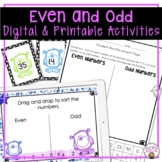 EVEN AND ODD NUMBERS ACTIVITIES, WORKSHEETS, LESSON PLANS,