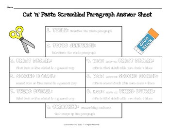 EVEN MORE!  No Prep!  Nuts and Bolts Scrambled Paragraphs LEVEL: Intermediate