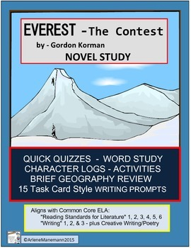 EVEREST Book One, The Contest - Novel Study, Quick Quizzes and more