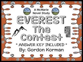 EVEREST Book One: The Contest (Gordon Korman) Novel Study / Comprehension