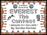 EVEREST Book One: The Contest (Gordon Korman) Novel Study / Comprehension