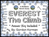 EVEREST Book Two: The Climb (Gordon Korman) Novel Study  (37 pages)
