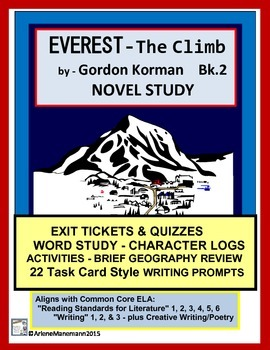 EVEREST Book 2, The Climb - Novel Study with Exit Tickets