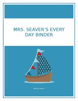 EVERY DAY TEACHER BINDER