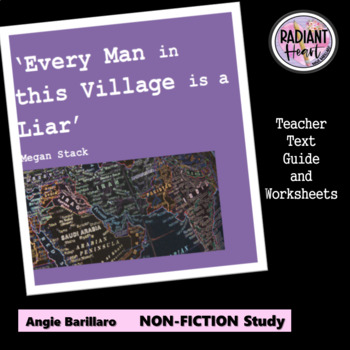EVERY MAN IN THIS VILLAGE IS A LIAR Teacher Text Guides & Worksheets