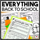 Back to School First Grade | First Week Activities and Printables