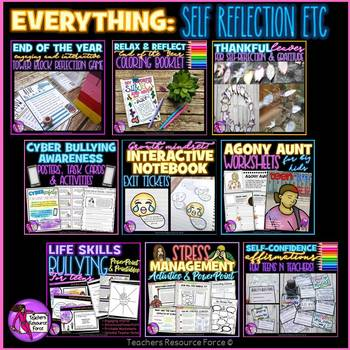 EVERYTHING Character, Growth Mindset and Self-Reflection for teens - MEGA BUNDLE