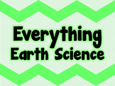 EVERYTHING EARTH SCIENCE *FULL YEAR EDITABLE BUNDLE*