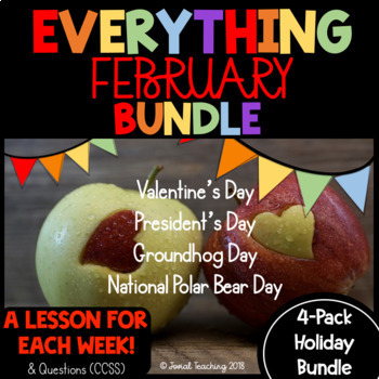 FEBRUARY HOLIDAYS!!!- GROUNDHOG DAY, VALENTINE'S DAY, PRESIDENT'S DAY, and MORE