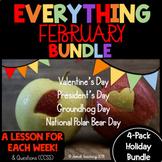 FEBRUARY HOLIDAY BUNDLE!- GROUNDHOG, VALENTINE'S, PRESIDENT'S, &NAT. POLAR BEAR