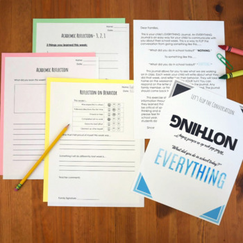 EVERYTHING Student Weekly Reflection Journal