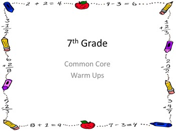EVERYTHING you need for 7th grade math - common core aligned