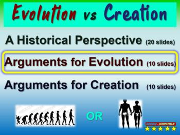 EVOLUTION VS CREATION (PART 2: ARGUMENTS FOR EVOLUTION) engaging 40-slide PPT
