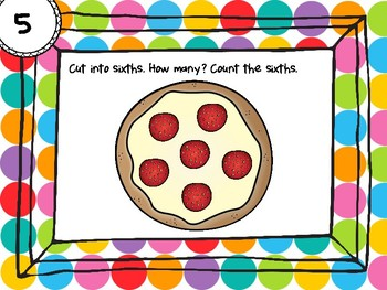 NEW  Fractions and Food: Dividing a Whole into Equal Parts HANDS-ON PRACTICE!